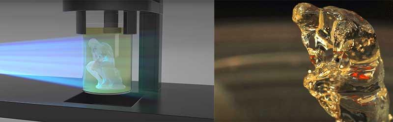 پرینت سه بعدی به روش پرتو نور ابی