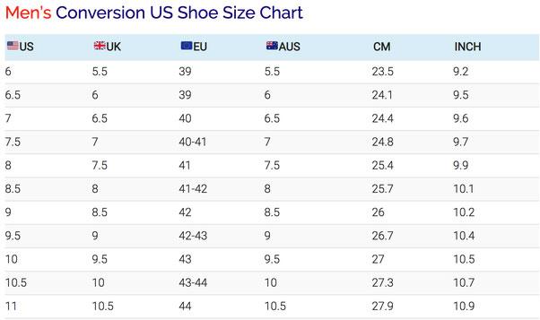 سایز کفش در خرید کفش